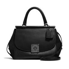 Coach Drifter Shoulder Bag Black/Matte Blue