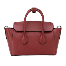 Bally Small Sommet Tote Bag Dark Red