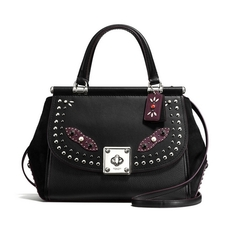 Coach Western Rivets Drifter Glovetanned Leather Shoulder Bag Black