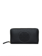 Tory Burch Perforated Logo Zip Around Wallet Black