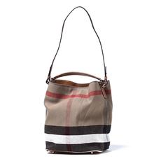 6a3c42ffd82f Burberry Ashby Medium Check Tote Bag Saddle Brown