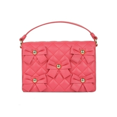 Moschino Quilted Shoulder Bag Pink