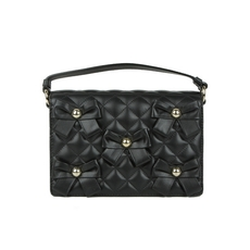 Moschino Quilted Shoulder Bag Black