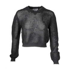 Boutique Moschino See Through Check Sweater Black