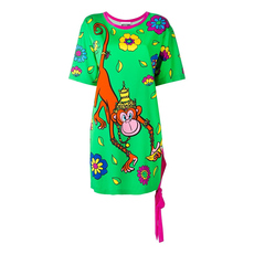 Moschino Floral Print Dress Multicolor