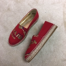 Prada Women's Loafers Red