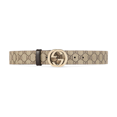 Gucci GG Supreme Belt Beige/Ebony