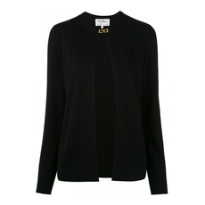 Salvatore Ferragamo Open Front Cardigan Black
