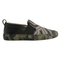 Bally Men's Loafers Black/Olive Green