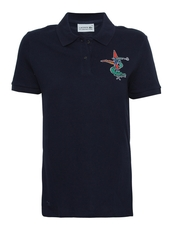 Lacoste Designed By Jean-Paul Goude New Embroidery Crocodile Polo Tee Navy