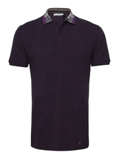 Versace Baroque Polo Tee Purple