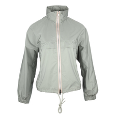 Prada Double Zip Hooded Windbreaker Grey