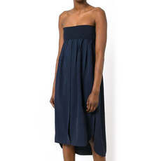 Dkny Ridded Knit Wasit Short Casual Dress Navy