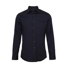 Prada Chest Poket Stretch Shirt Blue