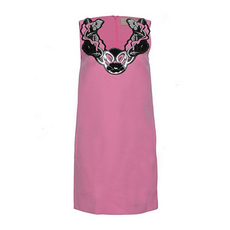 Christopher Kane Flora Applique Dress Pink