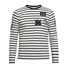 Alexander Mcqueen Stripes And Patches T-Shirt Black/White