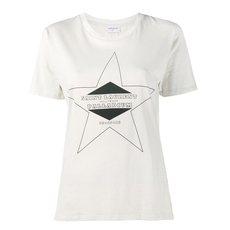 Saint Laurent Hollywood Palladium Printed Star T-Shirt White