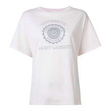 Saint Laurent Universite Print T-Shirt White