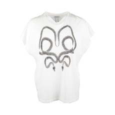 Saint Laurent Snack Pattern Crystal Application T-Shirt White