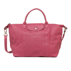 Longchamp Le Pliage Cuir Crossbody Bag Pink