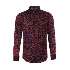 Just Cavalli Graphic Print Stretch Shirt Multicolor