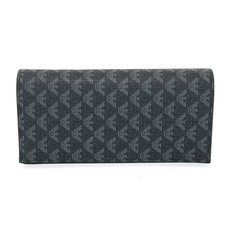 Emporio Armani Pvc Long Wallet Black