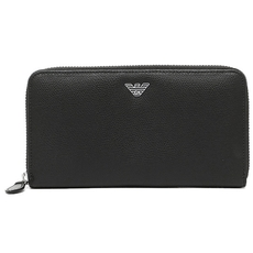 Emporio Armani Accordion Zip Around Wallet Black